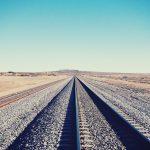 線路と空の素材